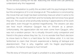 022 Movie Review Vincent And Theo Essay Exceptional Example Thesis Statement Samples