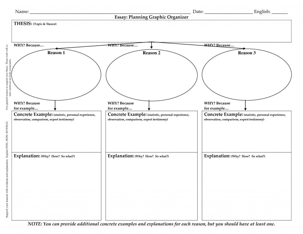 022 Persuasive Essay Graphic Organizer Example Amazing 3rd Grade 5th Middle School Large