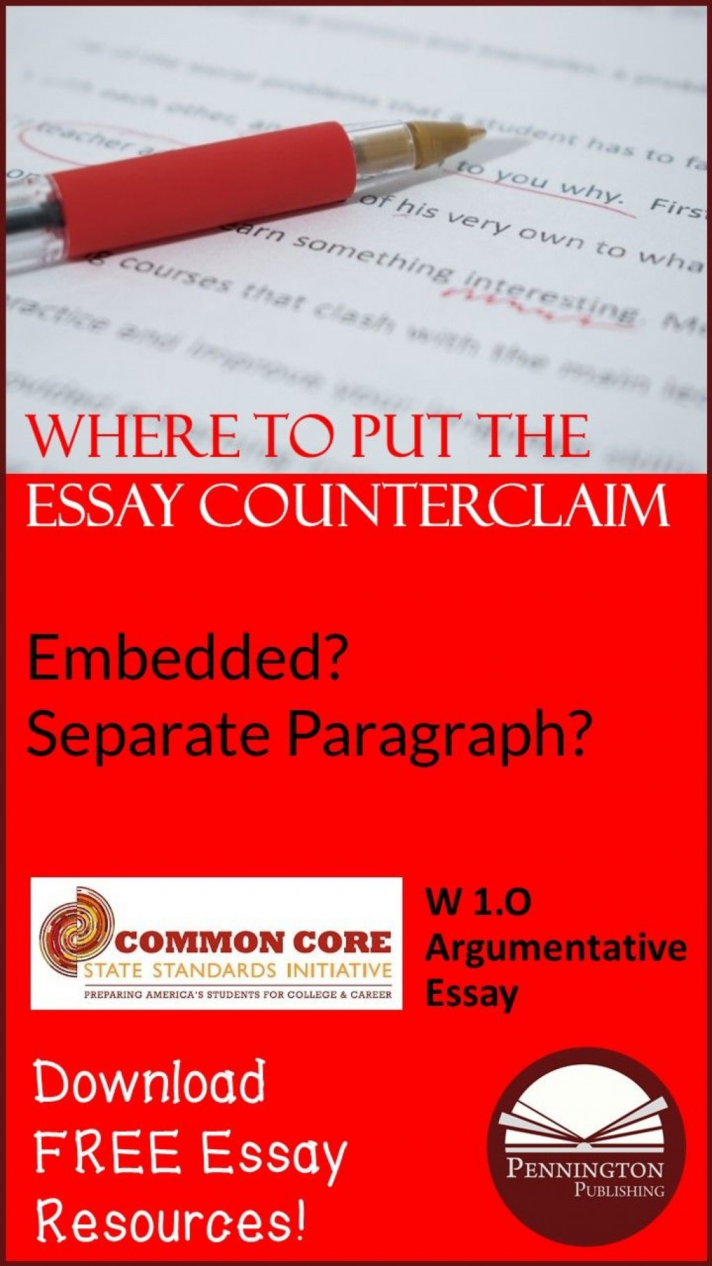 025 argumentative essay counterclaim example