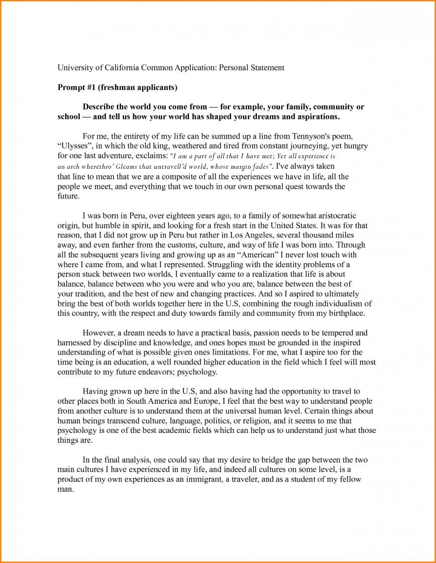 023 College Prompt Essays Uc Personal Statement Common App 9sgjvfir Unique Essay Examples 4 #1 Application