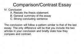023 Compare And Contrast Essay Example On High School College Conclusion Examples Level Sli Pdf For Students Free Outline Vs Striking 4th Grade 5th 320