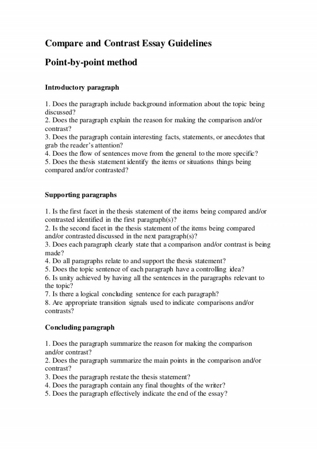 023 Compareandcontrastessayguidelines Thumbnail Thesis Statement For Compare And Contrast Essay Shocking Generator How To Make A Large