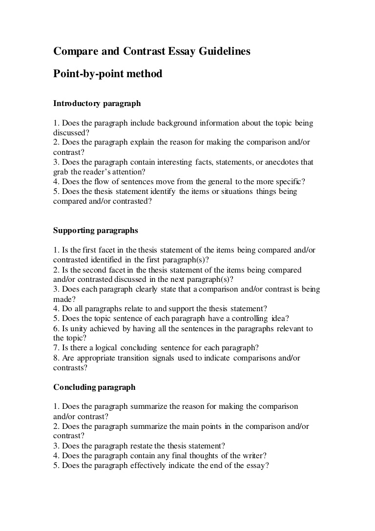 023 Compareandcontrastessayguidelines Thumbnail Thesis Statement For Compare And Contrast Essay Shocking Generator How To Make A Full