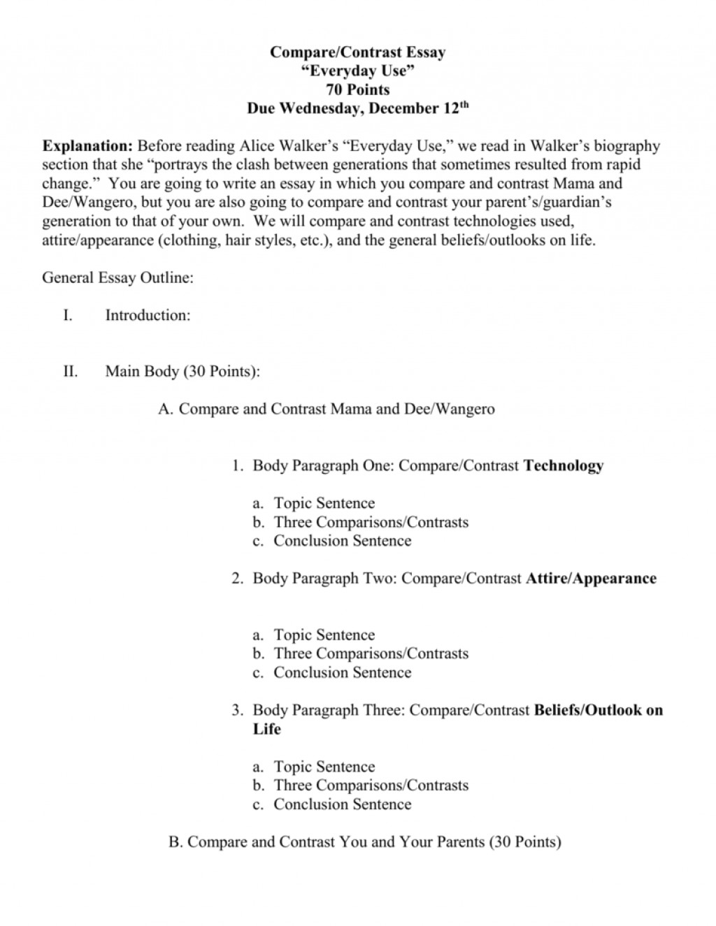 023 Comparison And Contrast Essay Outline 007806300 2 Impressive Compare 5th Grade High School Template Large
