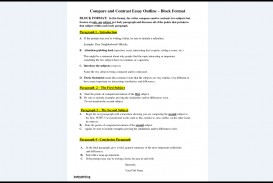 023 Essay Example Compare And Contrast Format Stupendous Structure Ppt Outline