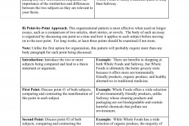 023 Essay Example Comparison And Contrast Awful Rubric Compare Template Word