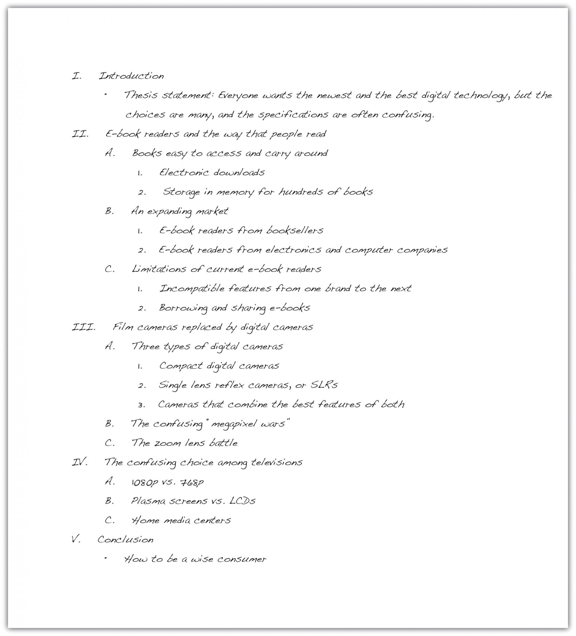 023 Essay Example How To Write An Outline Excellent High School 1920