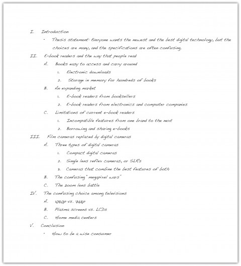 023 Essay Example How To Write An Outline Excellent In Mla Format College 480