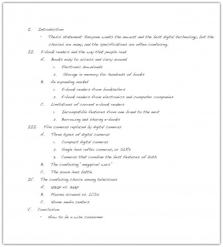 023 Essay Example How To Write An Outline Excellent In Mla Format College 728