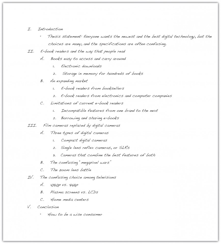 023 Essay Example How To Write An Outline Excellent High School Pdf Middle 868