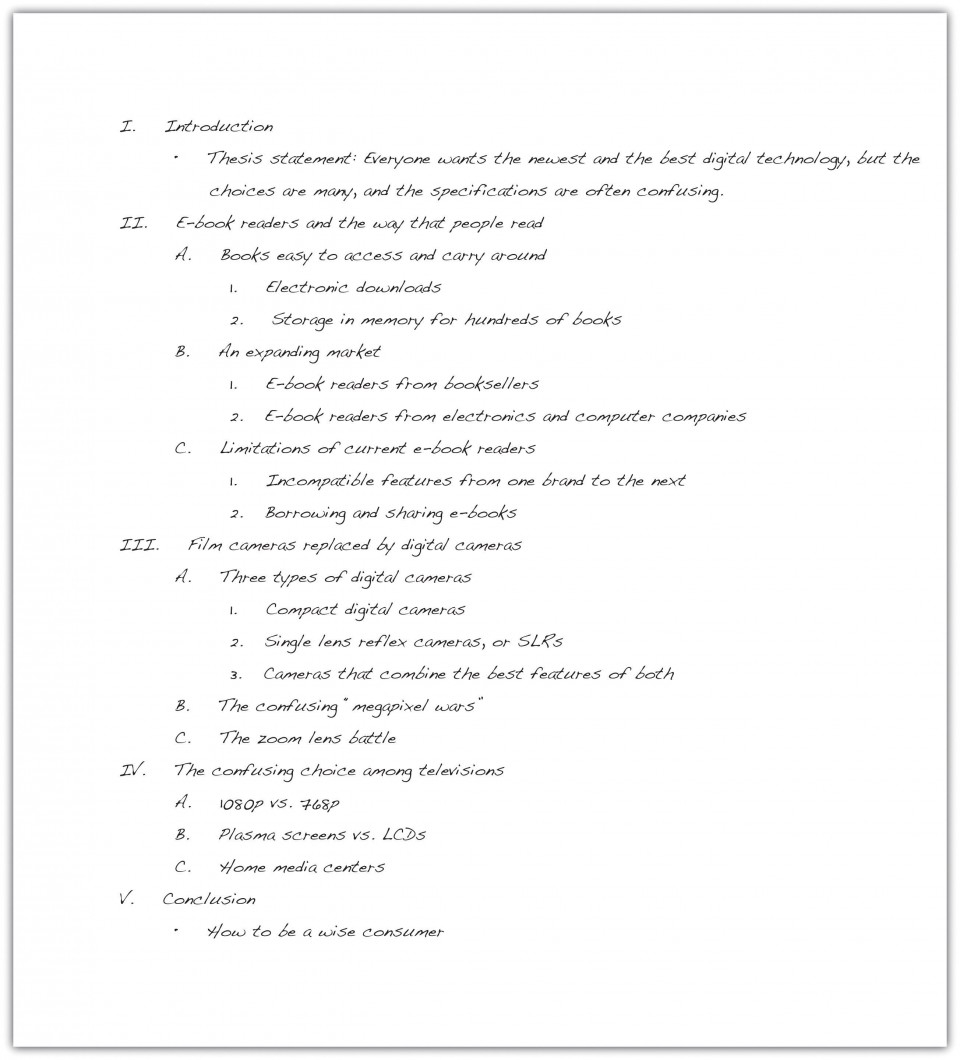 023 Essay Example How To Write An Outline Excellent In Mla Format College 960
