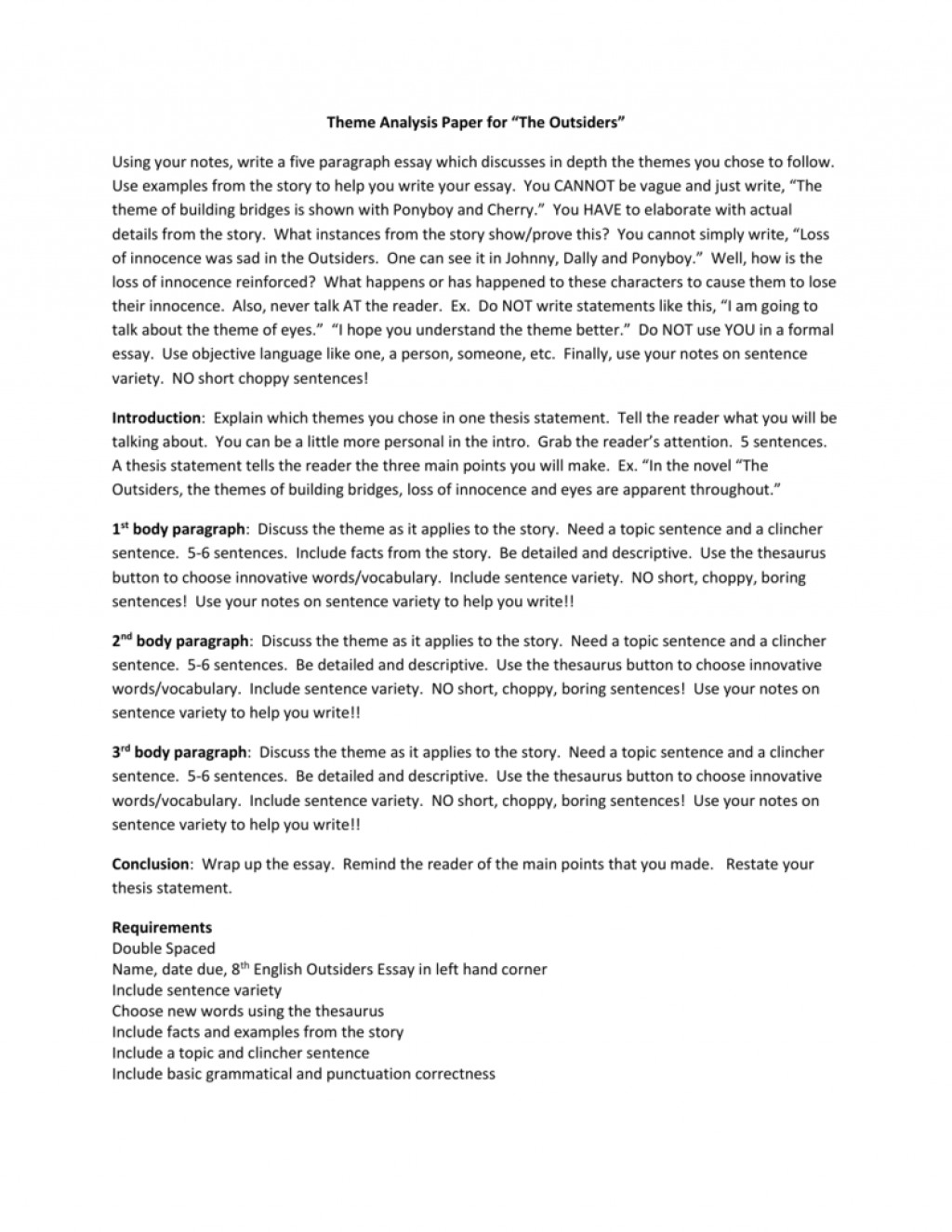 023 Essay Example How To Write Theme 008068480 1 Marvelous A Hook For Analysis Large