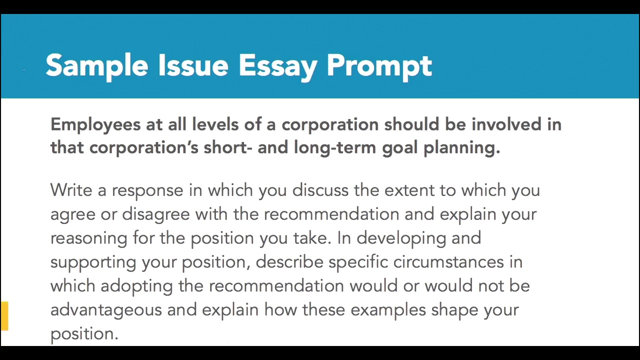 023 Essay Example Maxresdefault How To Write Stunning A Gre Issue Great Analytical Writing Essays Full