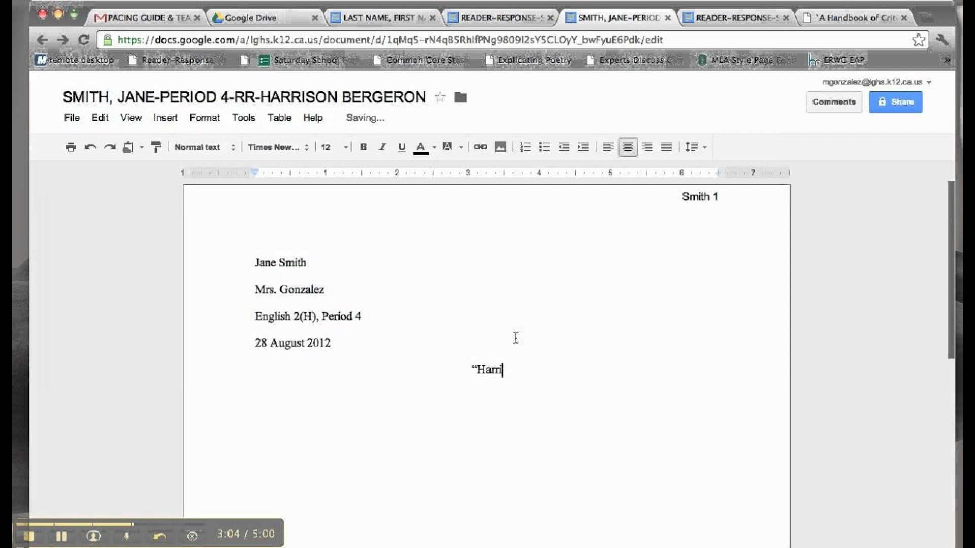 023 Essay Example Maxresdefault Reader Amazing Response Assignment Examples On The Story Of An Hour 1920