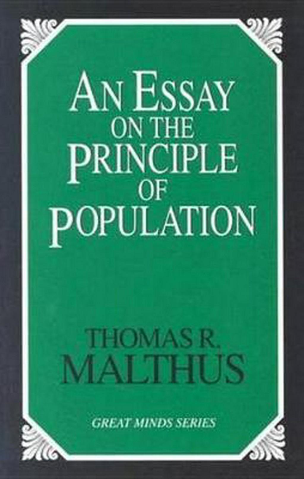 023 Essay Example On The Principle Of Population Singular Pdf By Thomas Malthus Main Idea Large