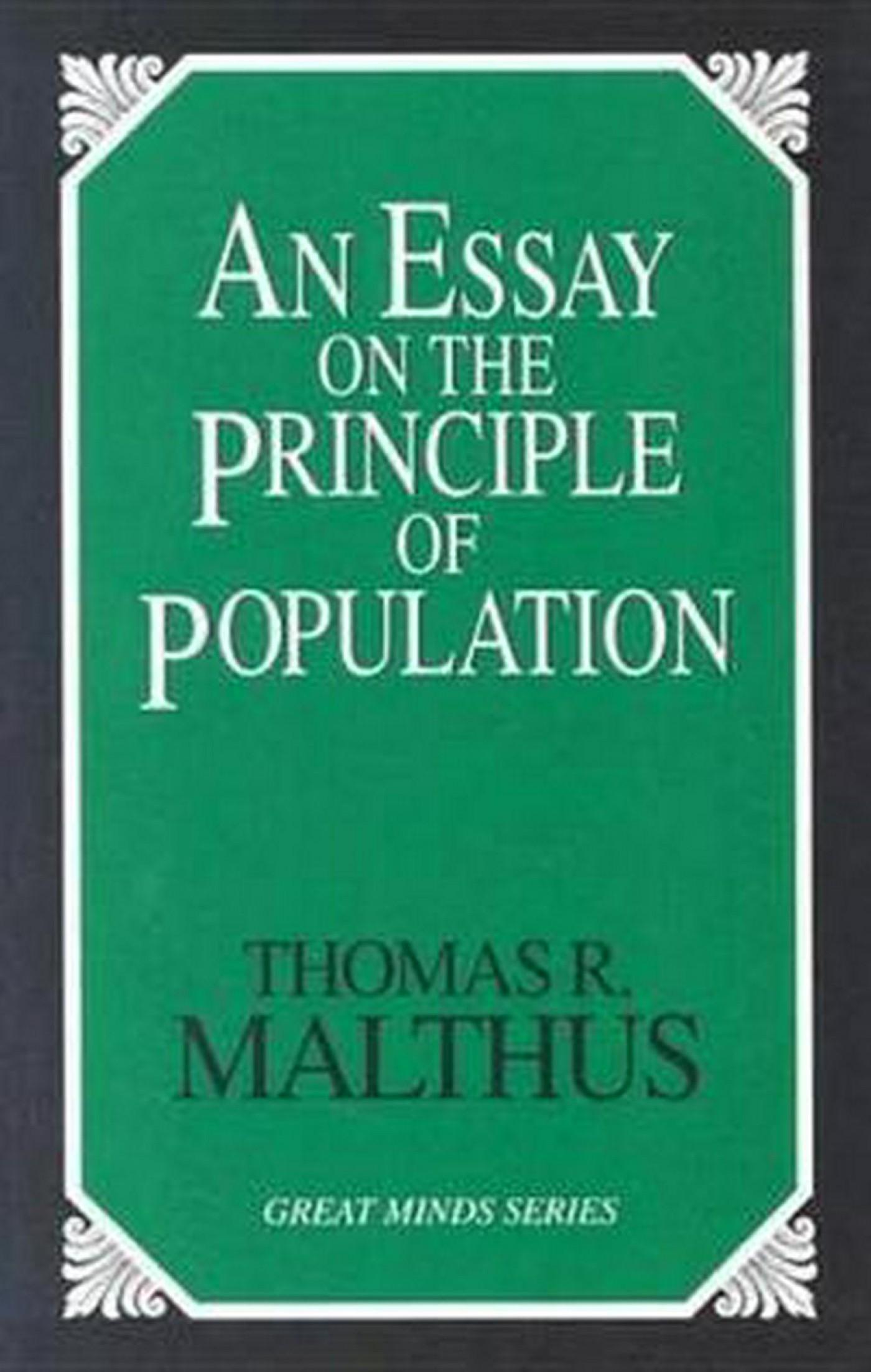 023 Essay Example On The Principle Of Population Singular Malthus Sparknotes Thomas Main Idea 1400