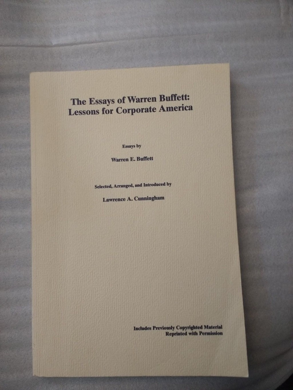 023 Essay Example S L1600 The Essays Of Warren Buffett Lessons For Corporate Remarkable America Third Edition 3rd Second Pdf Audio Book Large
