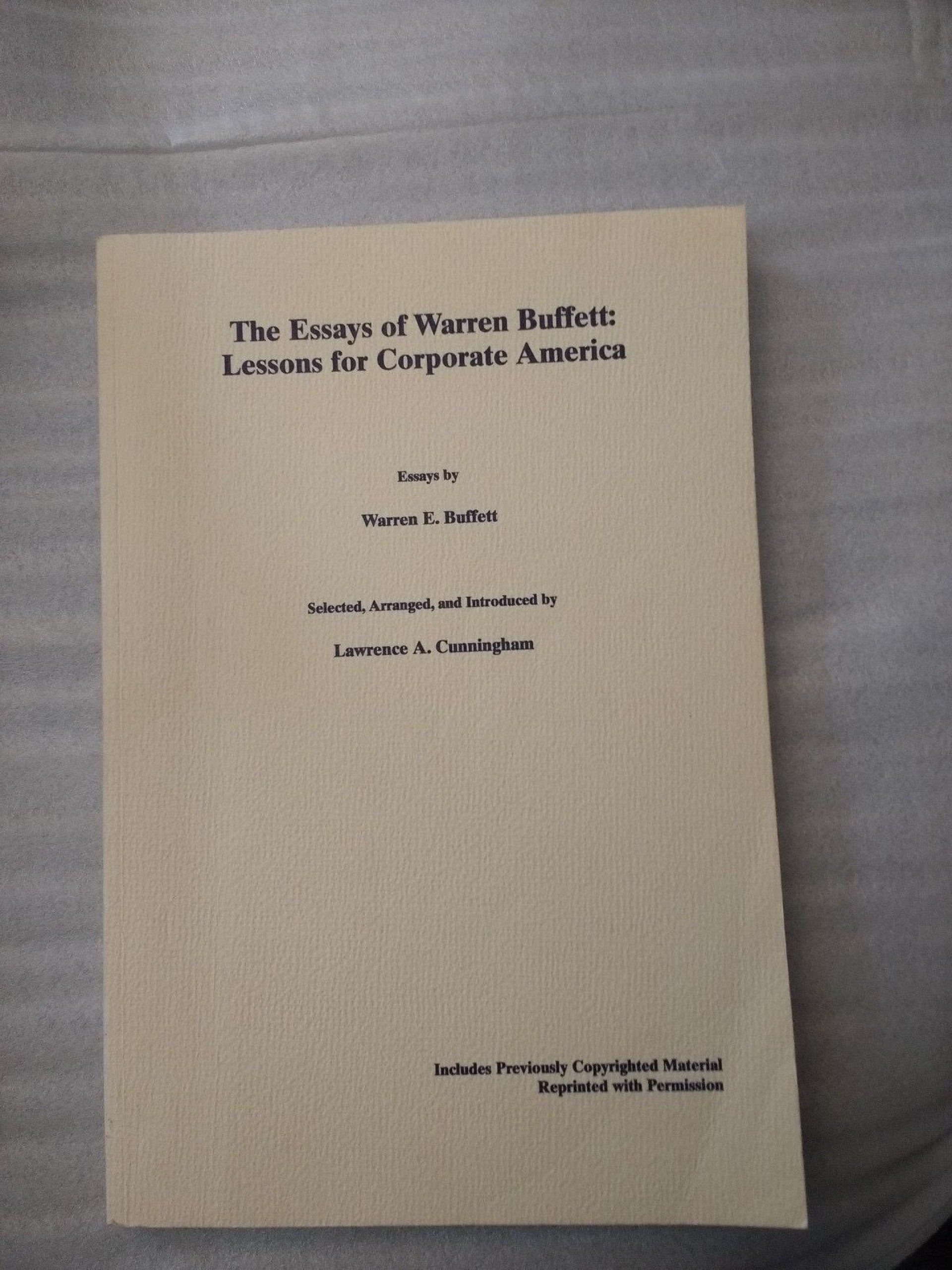 023 Essay Example S L1600 The Essays Of Warren Buffett Lessons For Corporate Remarkable America Third Edition 3rd Second Pdf Audio Book 1920