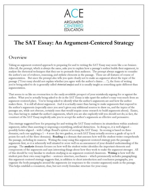 023 Essay Example Sat Satessaystrategyimage18 Rare New Tips Pdf Time Examples 480