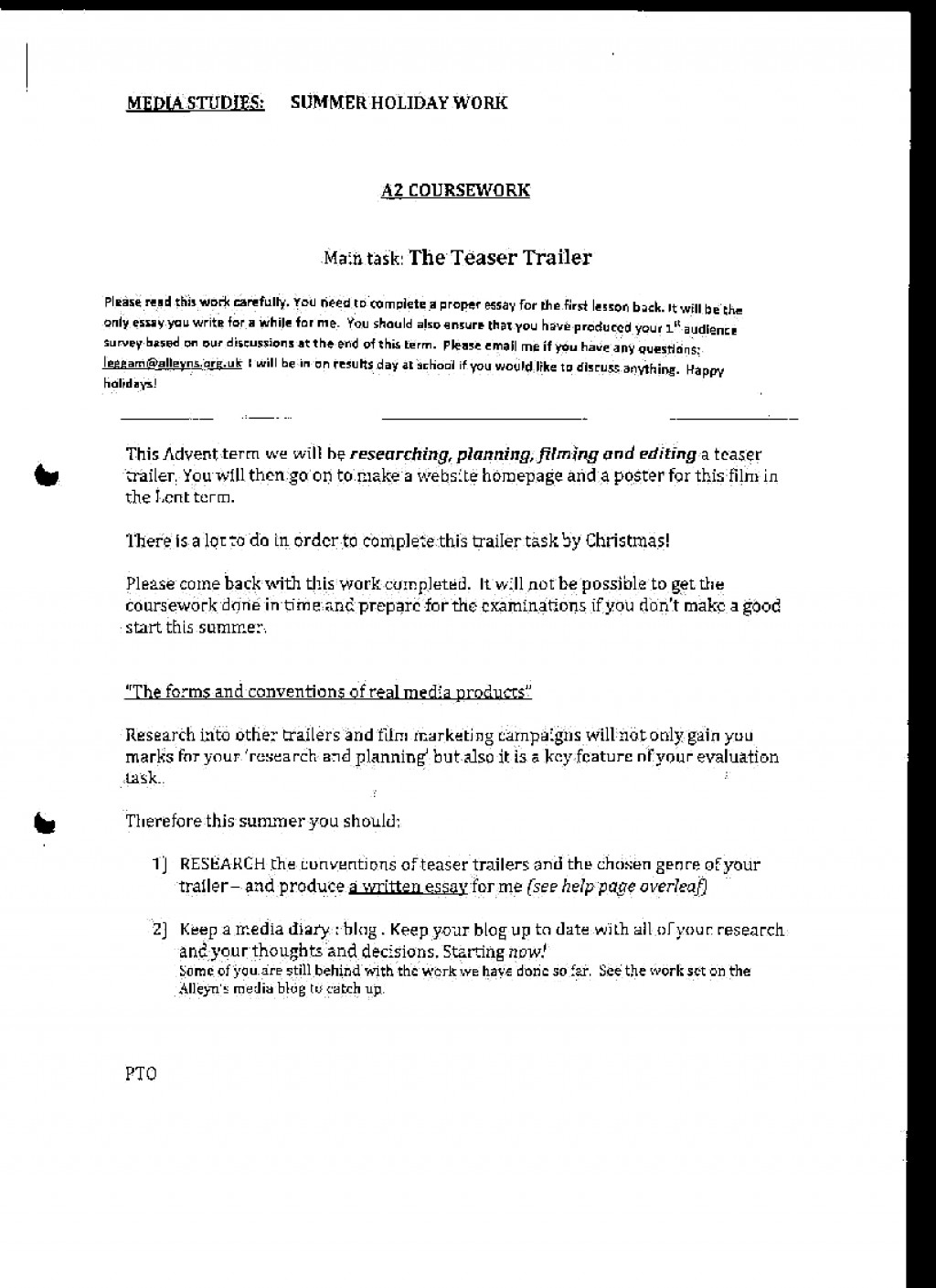 Basic elements for a term paper