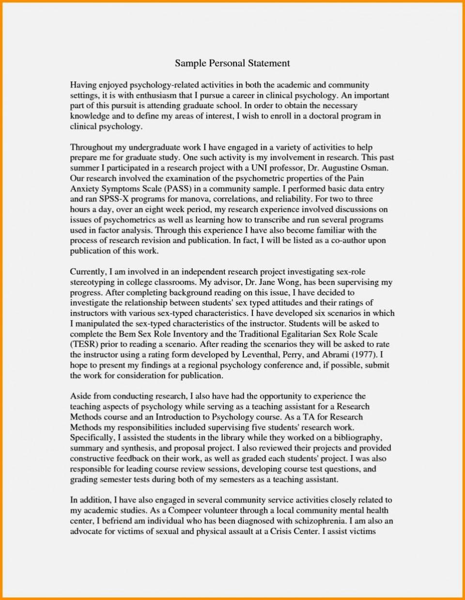 023 Essay For Graduate Admission Example Admissions Surprising Nursing School Personal 960