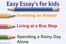 023 Essay Topics For Kids One Paragraph Magnificent 320