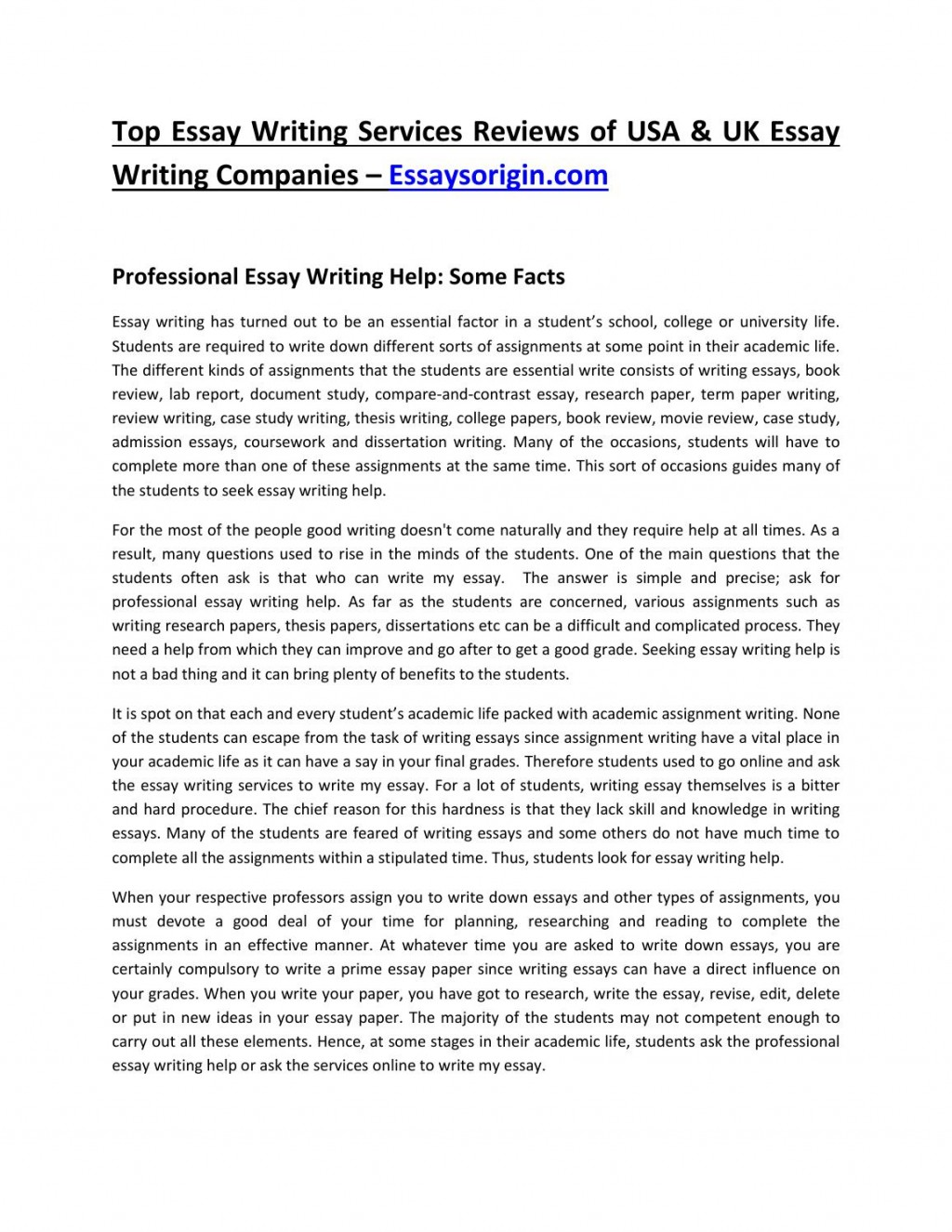 023 Essay Writing Companies Uk Example Page 1 Top Websites Sites Large