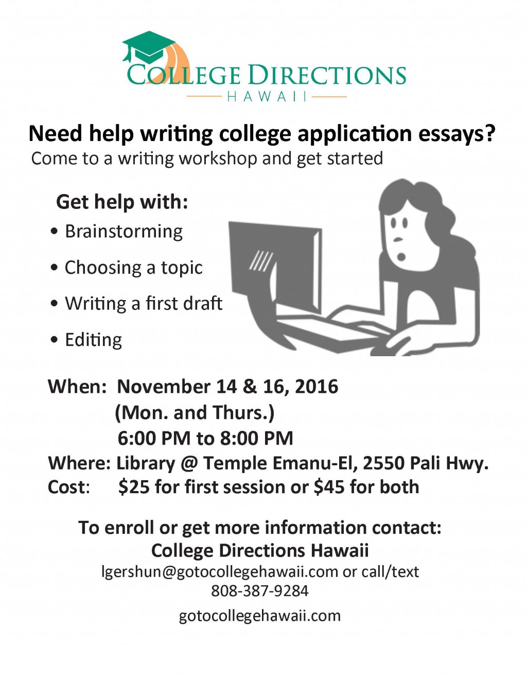 023 Essay Writing Workshop Flyer Example College Amazing Editing Best Services Application Free Checklist Large