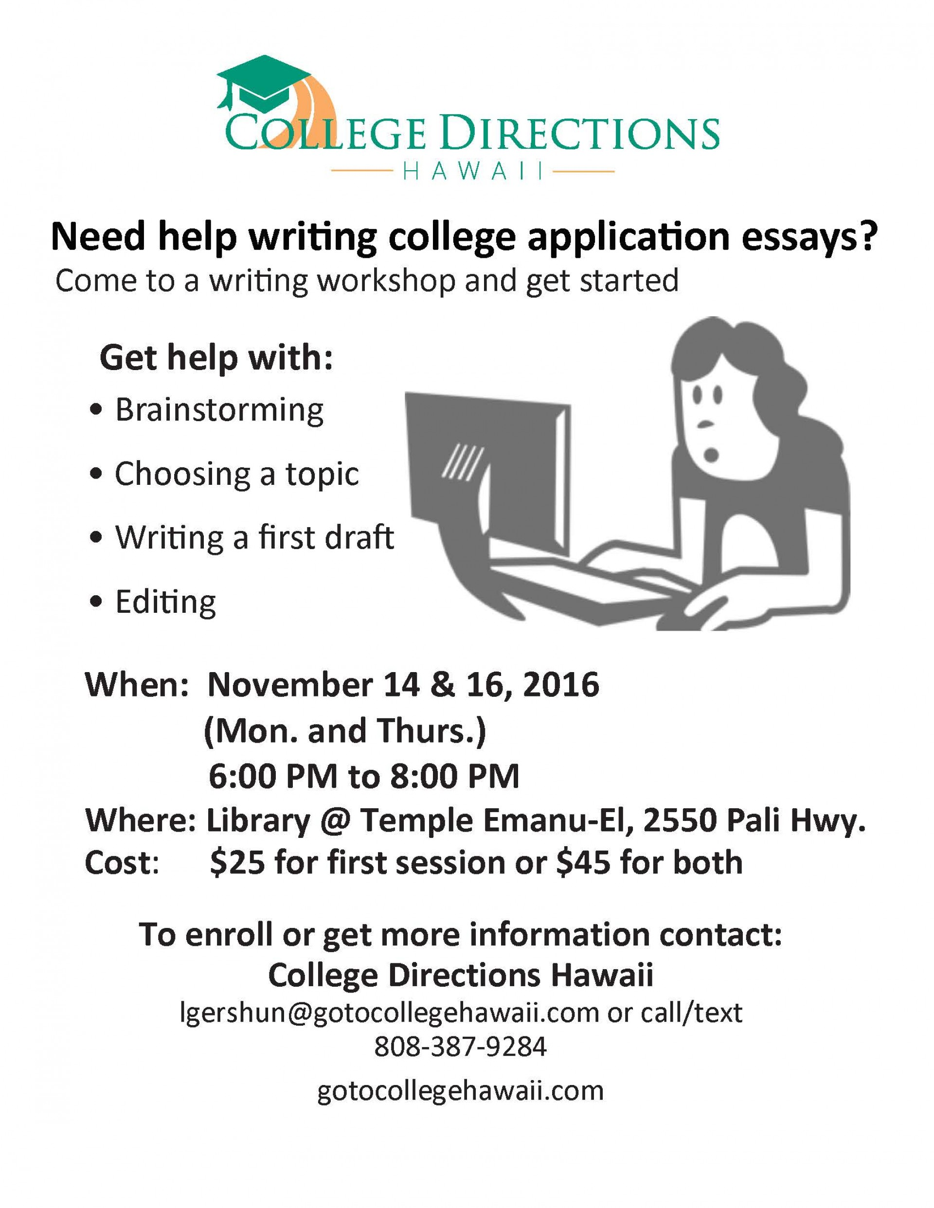 023 Essay Writing Workshop Flyer Example College Amazing Editing Services Service Reviews Free 1920
