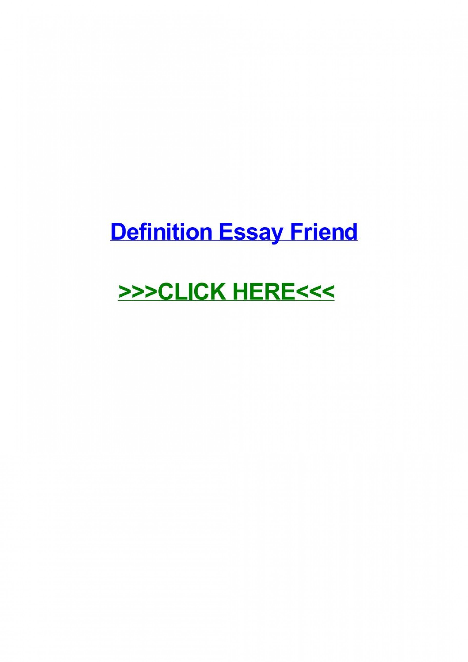 023 Friendship Definition Essay Example Page 1 Formidable Extended True 1920