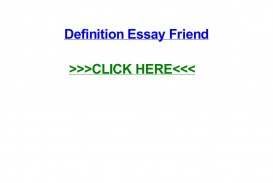 023 Friendship Definition Essay Example Page 1 Formidable Extended True