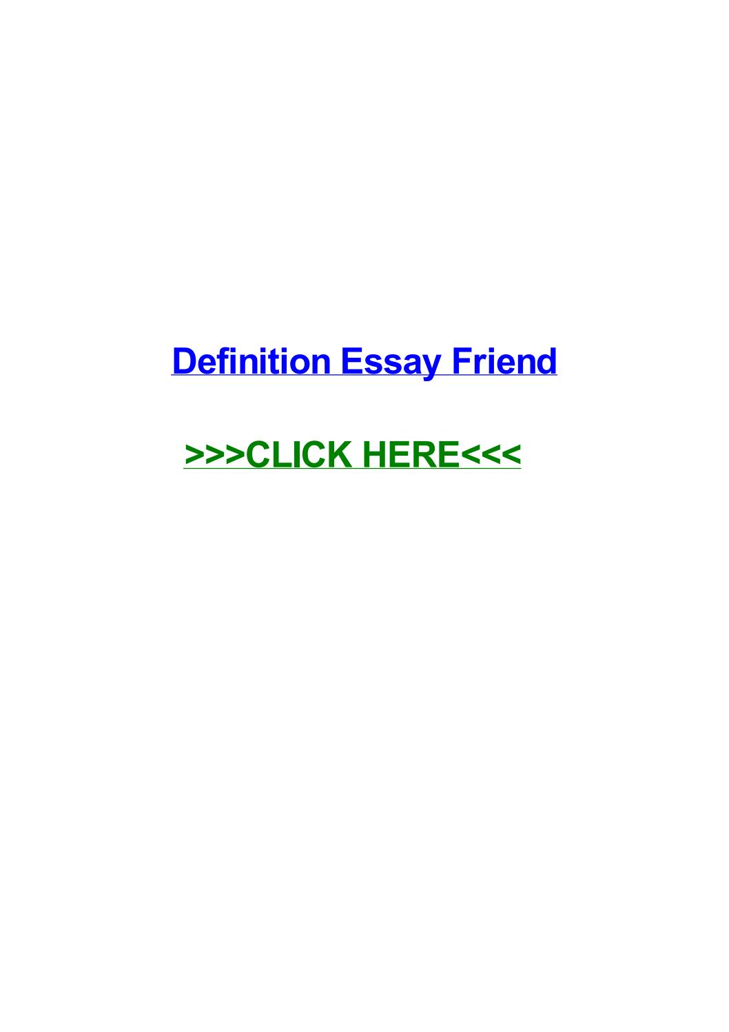 023 Friendship Definition Essay Example Page 1 Formidable Extended True Full