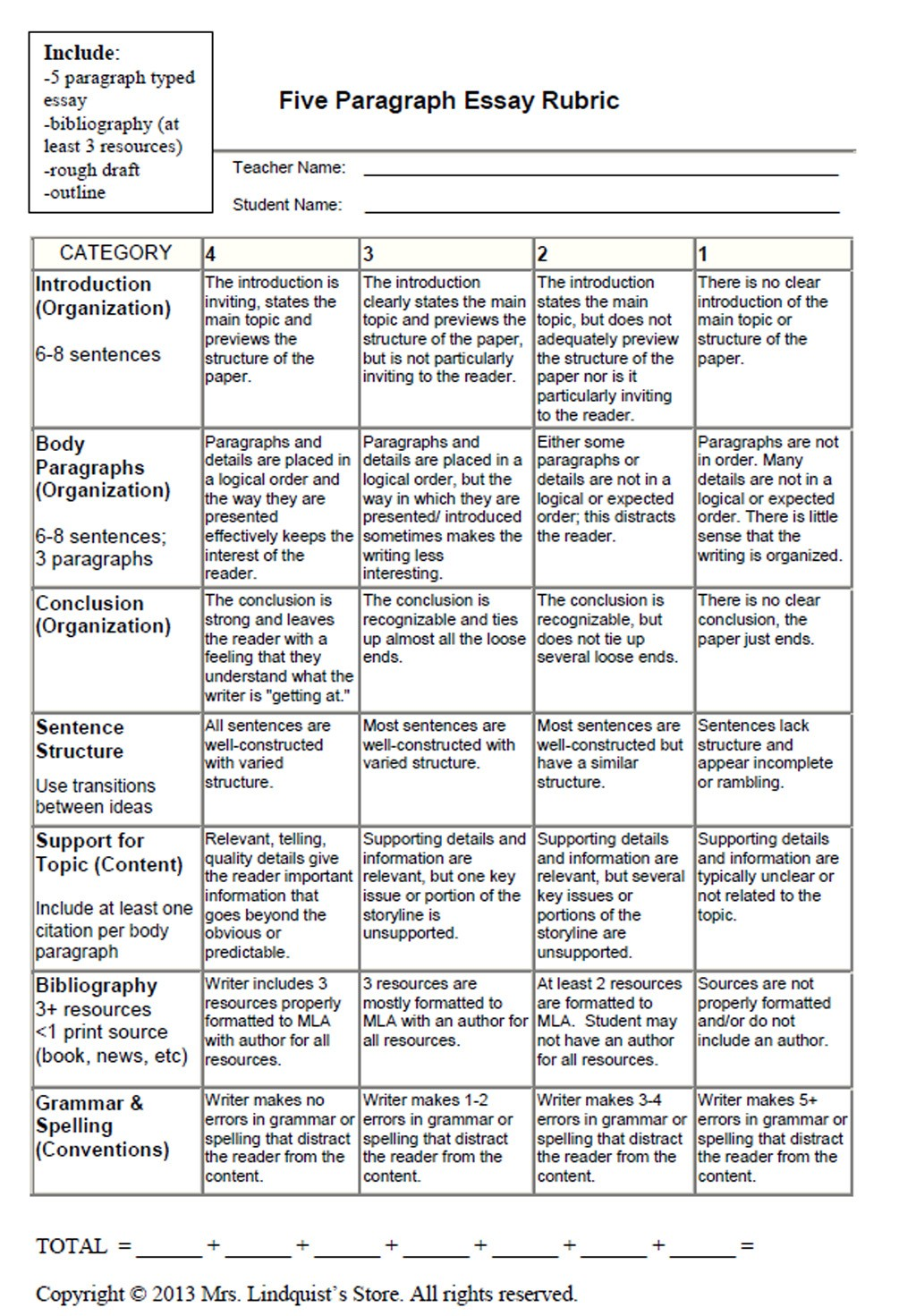 023 Graphic20organizers20and20rubrics20for20writing04 Large Rubrics In Essay Writing Formidable Holistic For Pdf Rubric Middle School Large