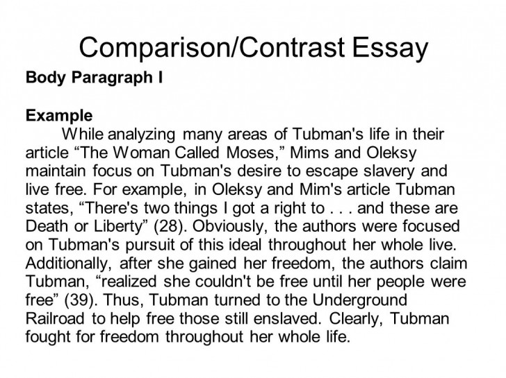 023 How To Write Compare And Contrast Essay Example Writing Comparison Essays Portfolio Mr Butner Career Examples Sli Senior Nursing Outstanding A On Two Poems An Introduction Conclusion For Middle School 728