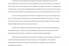023 Lyric Essay Examples Example Mla Summary Template Technology In Classroom Article Awesome