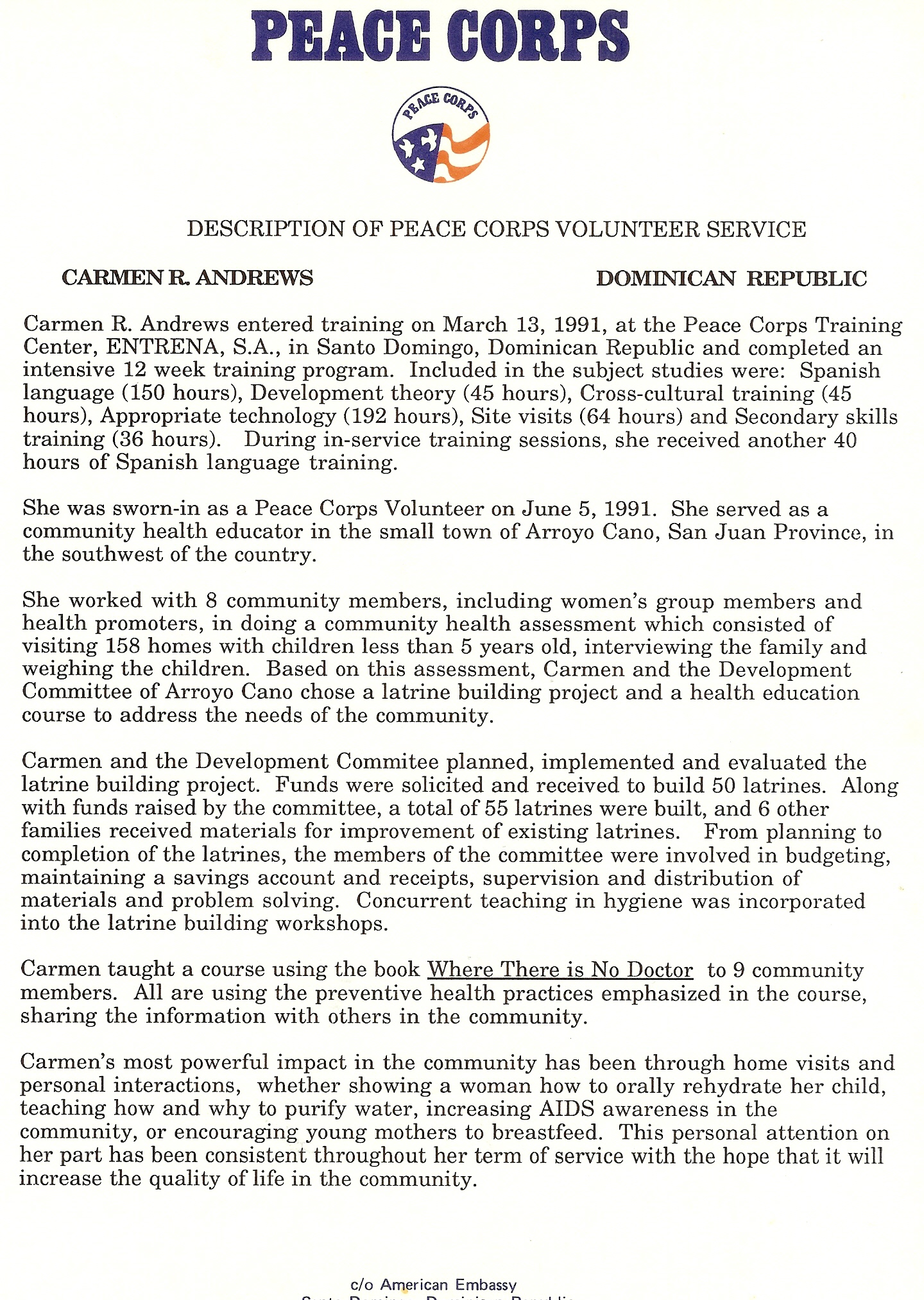 remarkable peace corps essay