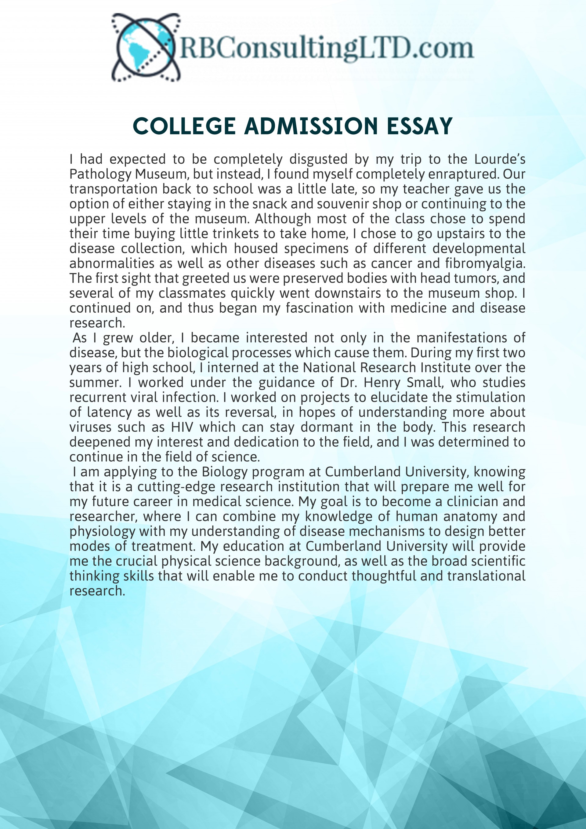 024 College Admission Essay Sample Impressive Mba Samples Pdf Free For Graduate School 1920