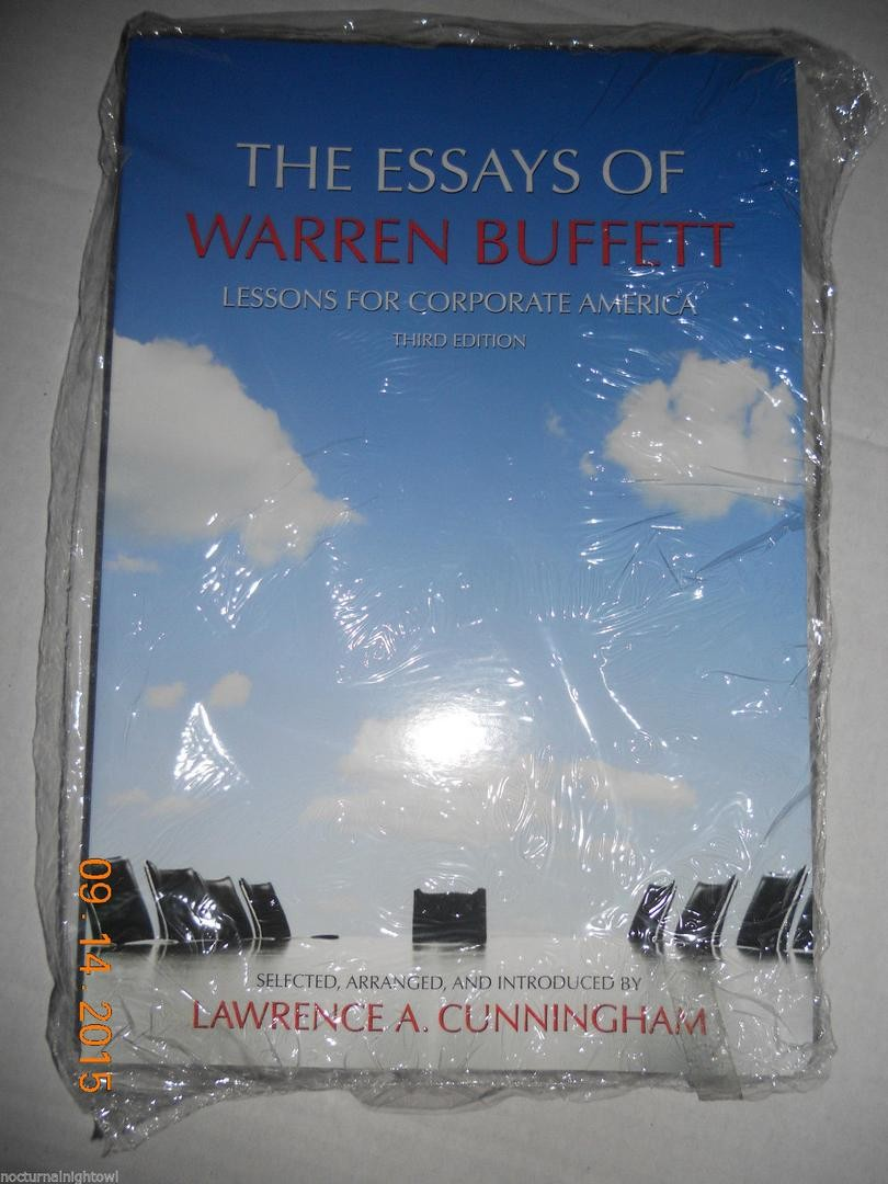 024 Essay Example 1 0b1c1ea30173ee0ca42df663c49fe933 The Essays Of Warren Buffett Lessons For Corporate Remarkable America Third Edition 3rd Second Pdf Audio Book Full