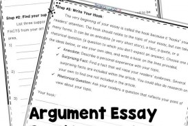 024 Essay Example Argumentative Graphic Incredible Organizer For Middle School Pdf