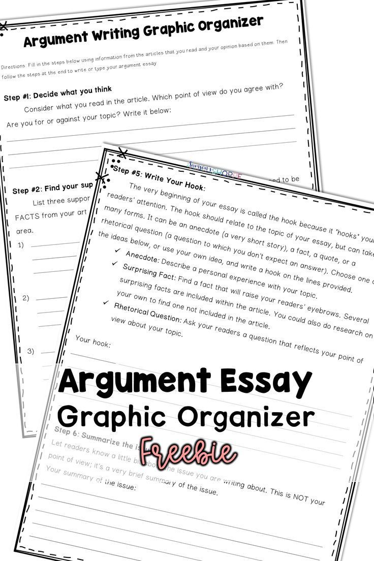 024 Essay Example Argumentative Graphic Incredible Organizer For Middle School Pdf Full