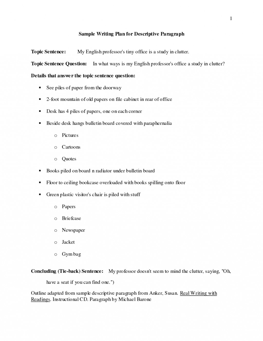 024 Essay Example Descriptive Outline Examples 448810 Impressive Middle School Format About Food Large