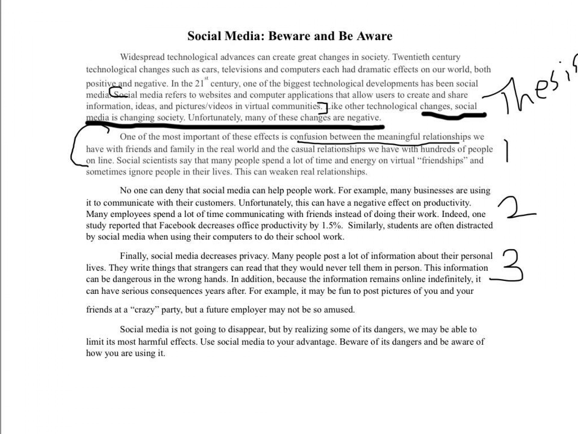 unbelievable social media essay introduction