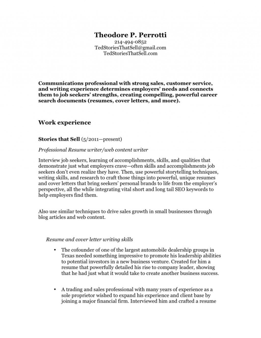 024 Essay Example Ted Perrotti Professional Resume Writer Presentation New For Web P 791x1024 Colleges That Don T Require Excellent Essays College Scholarships Do Not Best Don't Nc Admission Large