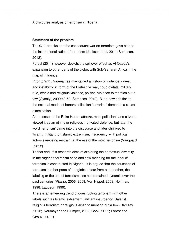 024 Essay Example Terrorism Global Writing Tips Uk Writers Online On Proposal Pag In English Pakistan Telugu World Pdf Nigeria Hindi Wonderful Topics War Large