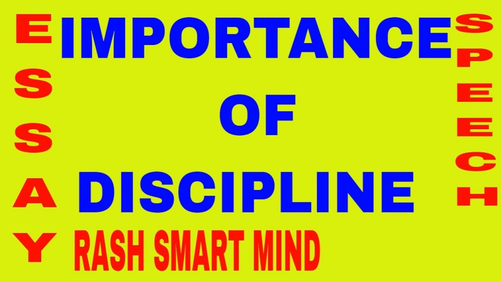 024 Essay On Punctuality And Discipline Example Stunning Large
