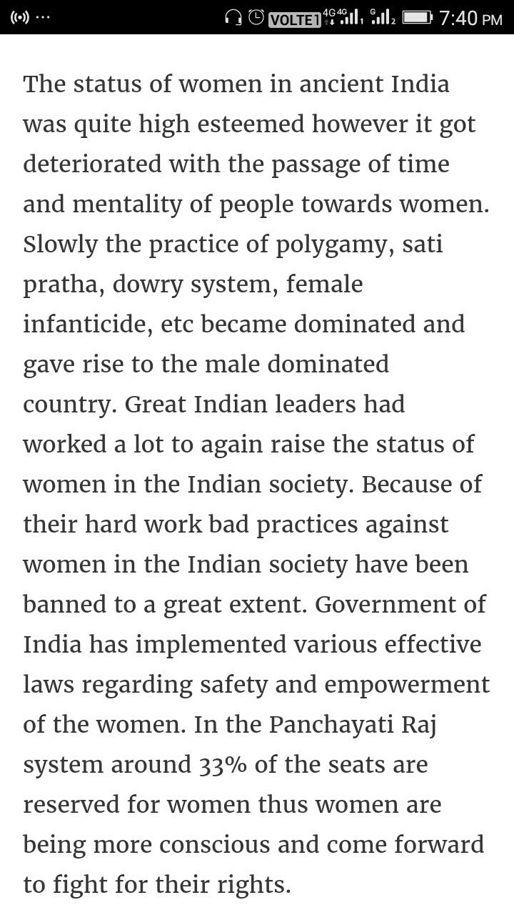 024 Essay On Women Incredible Women's Rights In India Short Empowerment Full