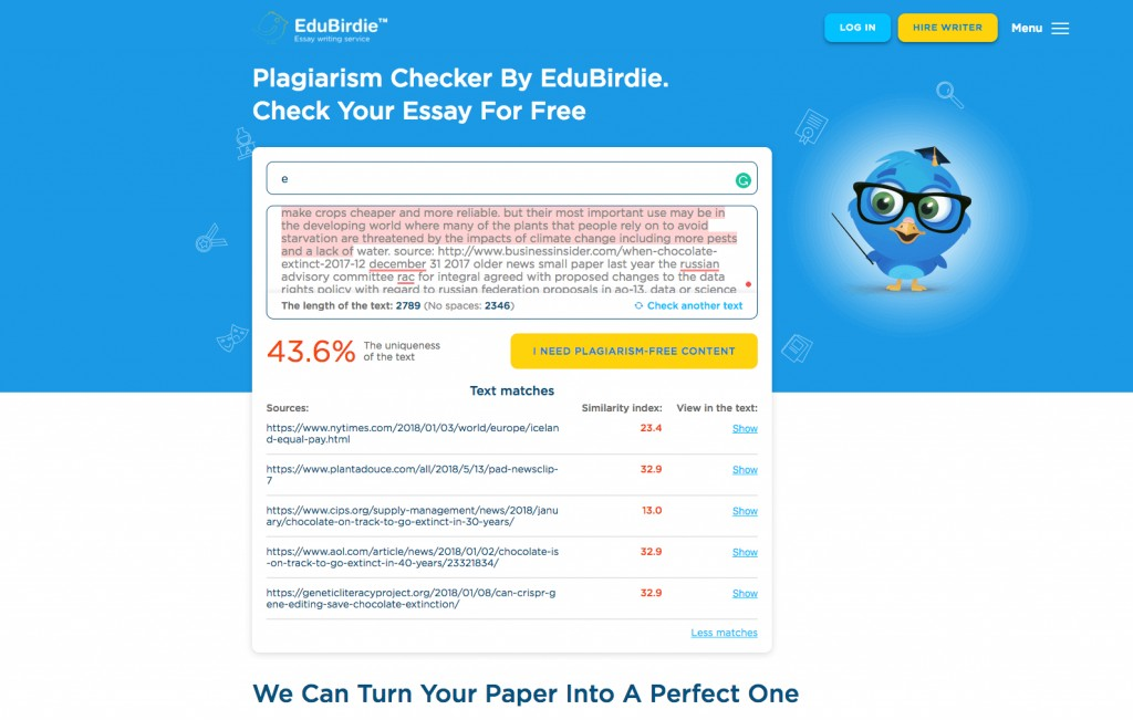 024 Essay Plagiarism Checker Example Unforgettable Full Paper Free Turnitin Reddit Large