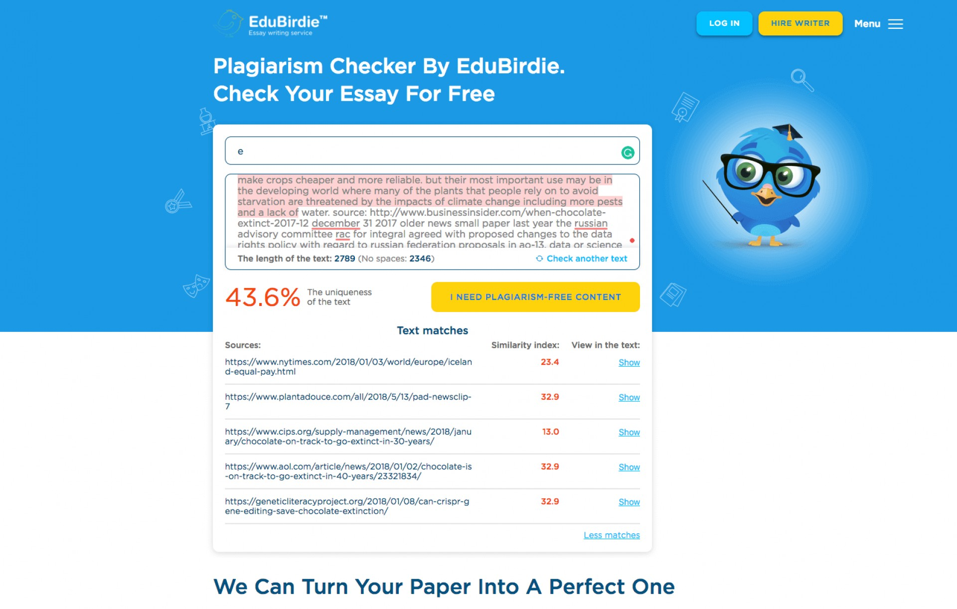 024 Essay Plagiarism Checker Example Unforgettable Full Paper Free Turnitin Reddit 1920