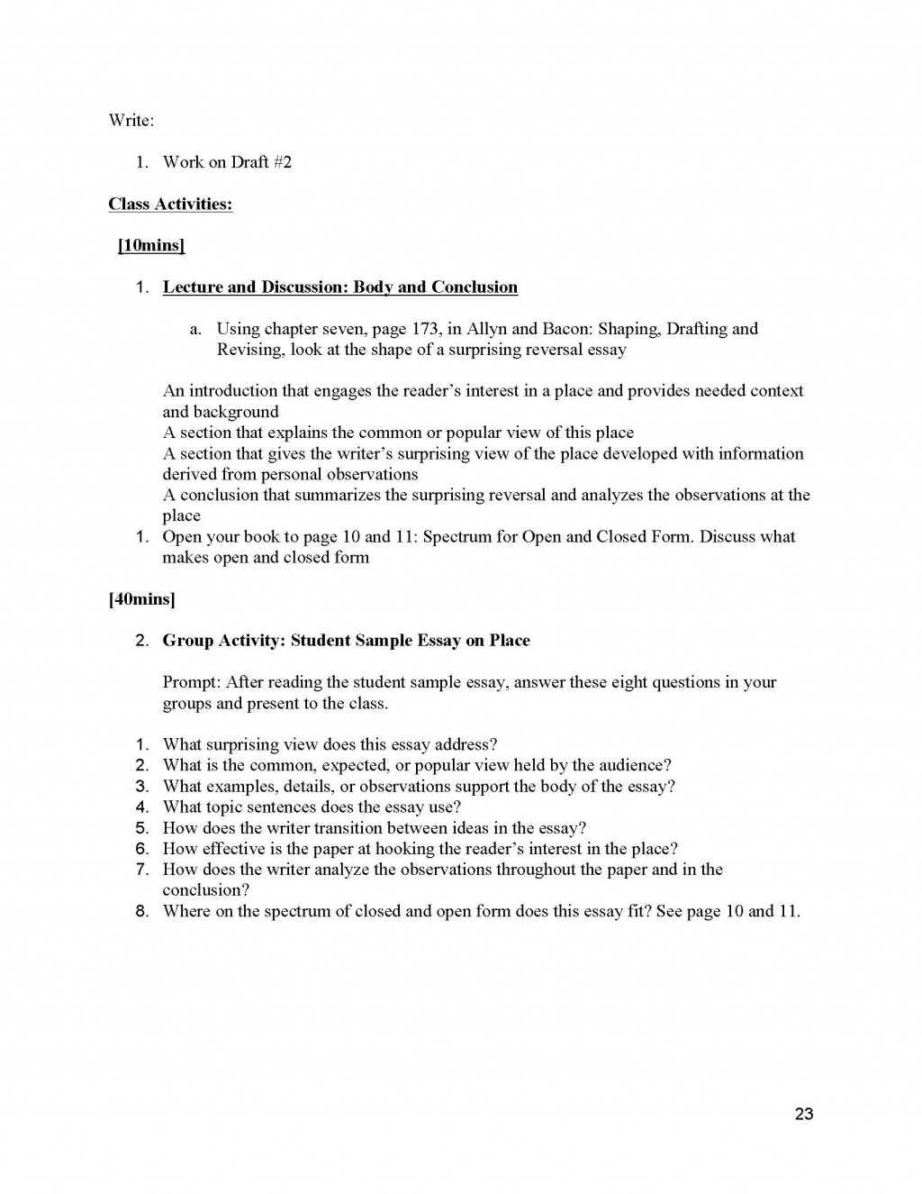 024 Informative Essay Topics Unit 2 Plans Instructor Copy Page 23 Remarkable Prompt 4th Grade Prompts For High School Expository College Students Large