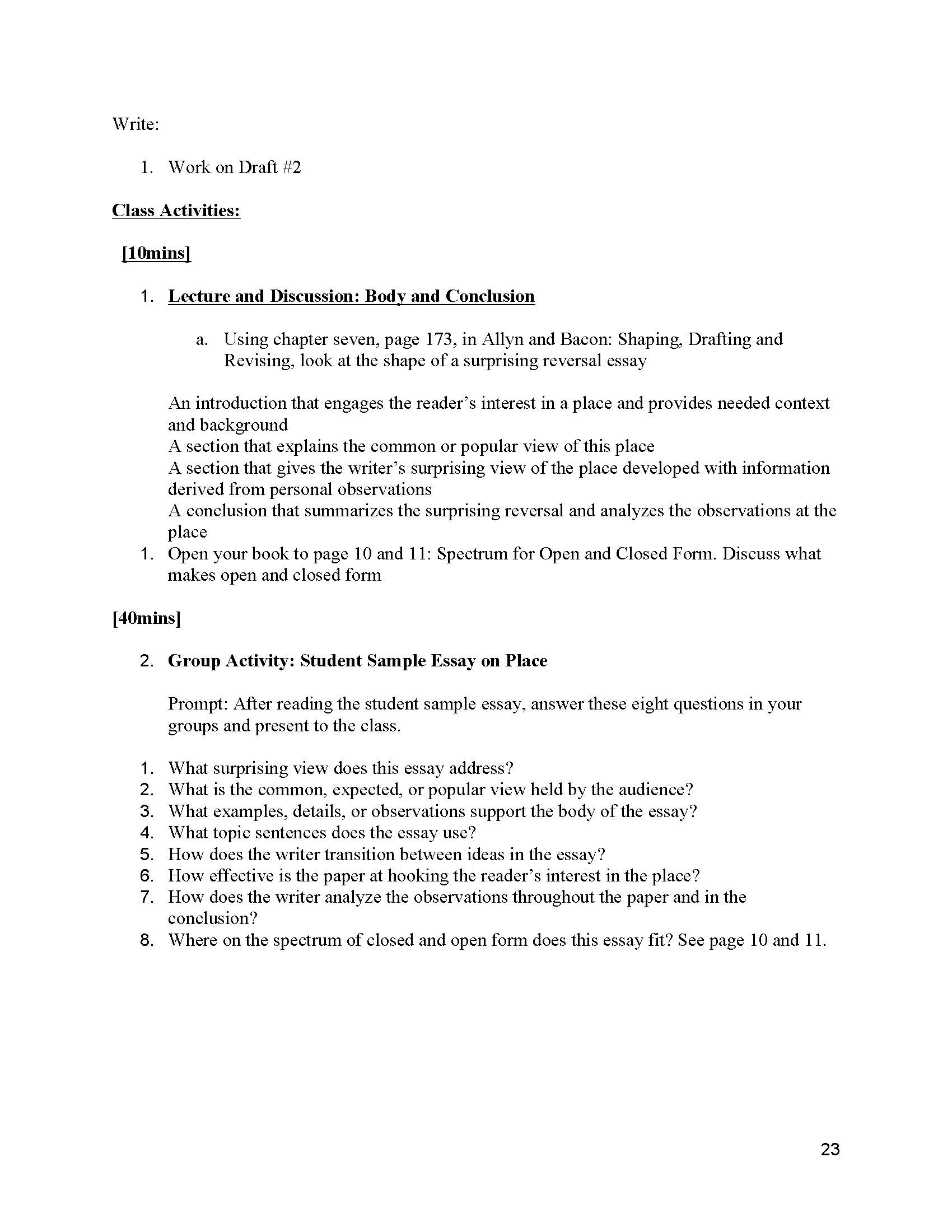 024 Informative Essay Topics Unit 2 Plans Instructor Copy Page 23 Remarkable Prompt 4th Grade Prompts For High School Expository College Students Full